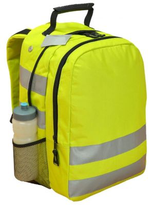 Hi Vis Backpack in Lime with Reflective Tape
