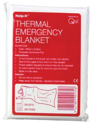 Help-It Disposable Silver Emergency Rescue Blanket 130cm x 210cm