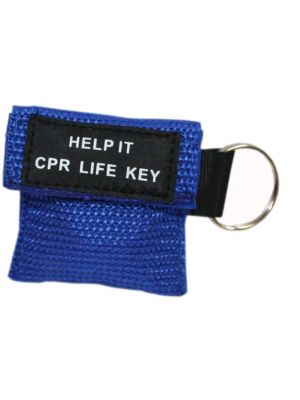 CPR Key Ring Web Pouch Small CPR Face Shield without Gloves
