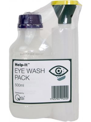 Eye Wash Bottle 250ml with Saline 500ml