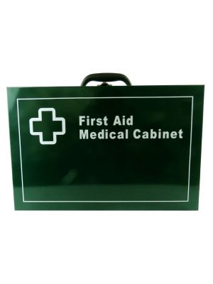 First Aid Metal Box Wall Mountable - Large Green