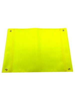 Hi Vis Flag Yellow +/- 30cm x 40cm Single Flag D 4x Eyes