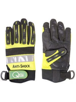 Mech Glove with Shock Protection and Tool Lanyard Attachment