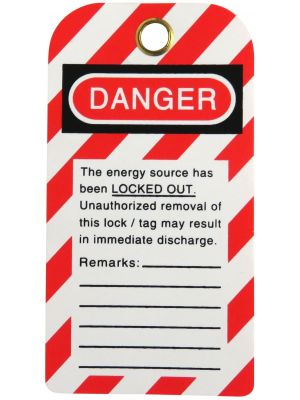 DANGER DO NOT OPERATE Maintenance Department' Lock Out Tag