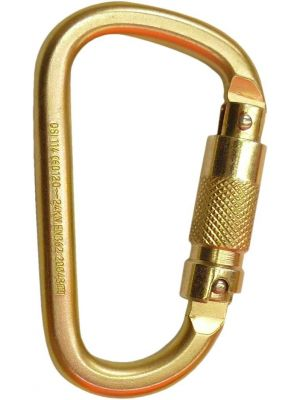 Carabiner Steel Triple Locking - Offset Shape - 25KN
