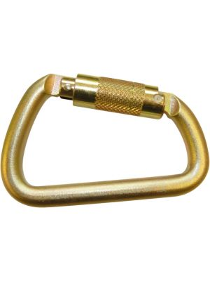 Offset Carabiner - Steel  Triple Locking 50kN
