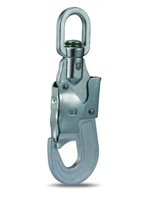 Swivel Double Action Snap Hook Steel with Strain Indicator - 25KN