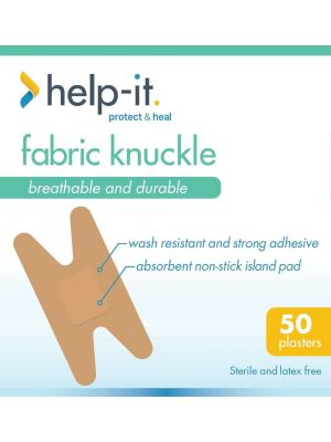 Help-It Fabric Knuckle Plasters - Box of 50
