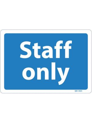 STAFF ONLY - White on Blue