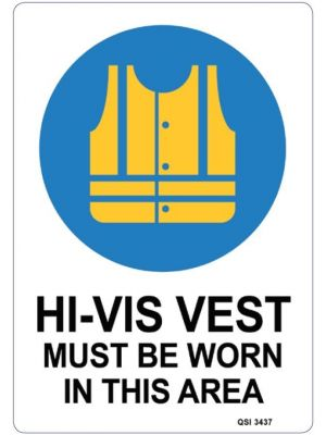 HI VIS VEST MUST BE WORN IN THIS AREA