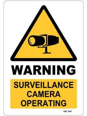 WARNING SURVEILLANCE CAMERAS OPERATING