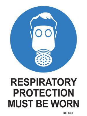 RESPIRATORY PROTECTION MUST BE WORN