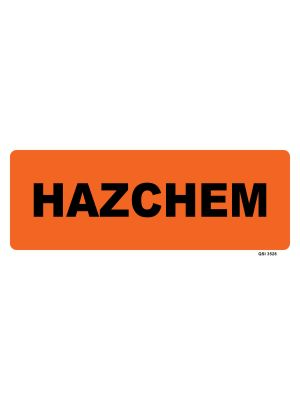 HAZCHEM TEXT ONLY
