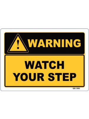 WARNING WATCH YOUR STEP