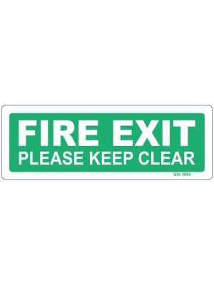 FIRE EXIT PLEASE KEEP CLEAR