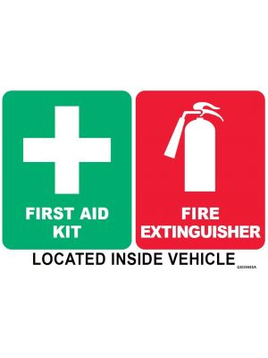 First Aid/Fire Extinguisher Combo Sticker
