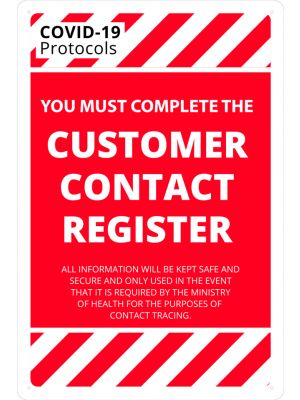 COVID-19 Customer Contact Register
