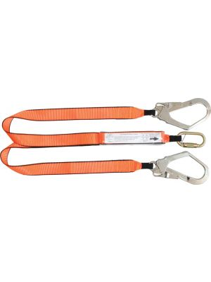 1.5m Double Leg Shock Lanyard with 1 x MC002K & 2 x Scaffold Hooks
