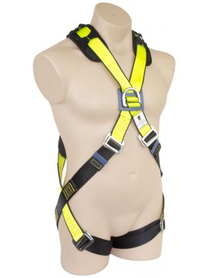 Basic Full Body - Cross Over Harness Design with D-ring in Front and Back