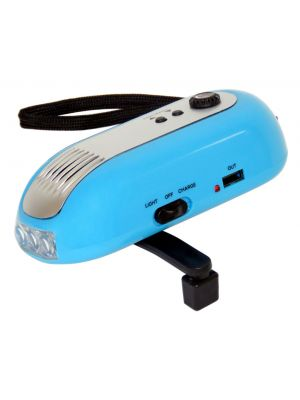 Dynamo Wind Up Crank Radio Flashlight