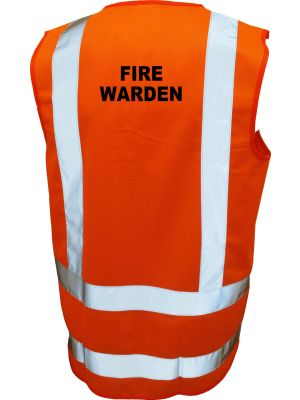 Ironwear Hi Viz 'Fire Warden' Vest in Orange