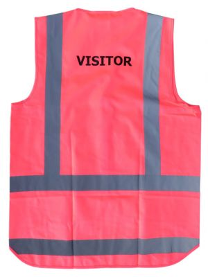 Ironwear Hi Vis Night 'Visitor' Vest in Pink