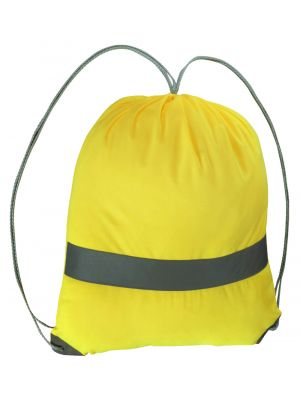 Hi Vis Backsack in Yellow with Reflective Tape