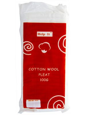 Help-It Pleated Cotton Wool 100g