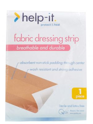 Help-It Fabric Dressing Strip in a Poly Bag 72mm x 1m