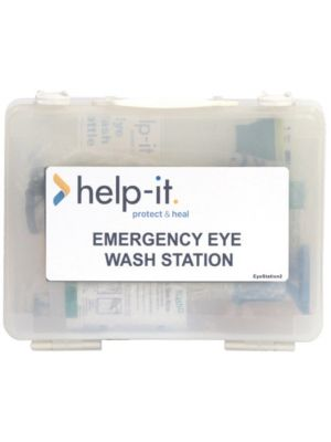 Eye Wash Kit - Clear Wall Mountable Plastic Box