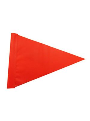 Hi Vis Orange Triangle - Can be Stapled on to Wooden Pole - X Single