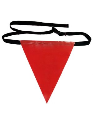 Ladder Flag with Strap and Buckle - Red - Flag Y
