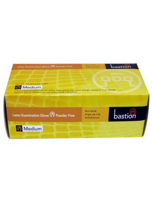 Bastion Latex Powder Free Gloves Large
