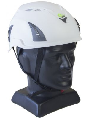 QTECH Industrial Vented Helmet with Visor Attachment Holes
