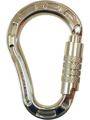 Carabiner Alloy Triple Locking with Side Swing - 22kN