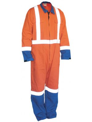 Ironwear 100% Cotton Overall in Orange and Blue