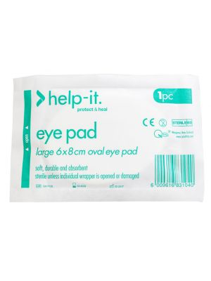 Help-It Eye Pad Sterile 2pk