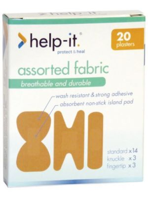 Help-It Fabric Plasters - Assorted Packs