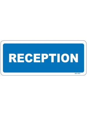RECEPTION - White on Blue