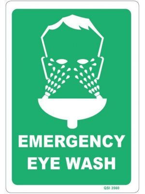 EMERGENCY EYE WASH 340 x 240mm Screenprinted on PVC