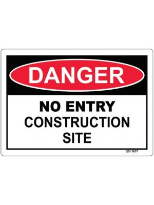 DANGER NO ENTRY CONSTRUCTION SITE