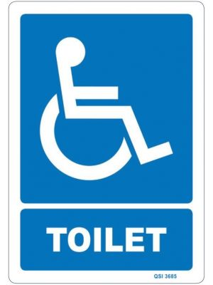 DISABLED TOILET Icon and Text