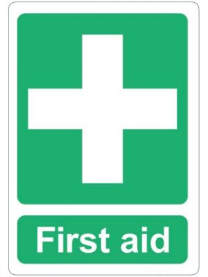 First Aid Adhesive Label 105mm x 125mm