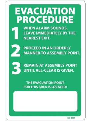 EVACUATION PROCEDURE WRITABLE