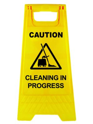 CAUTION Cleaning In Progress A-frame Sign