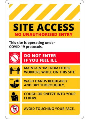 COVID-19 Site Access Board