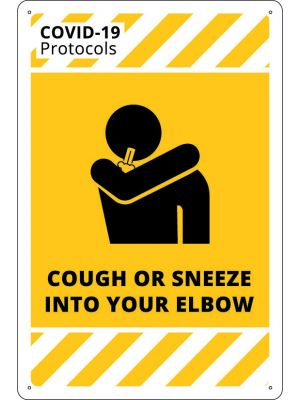 COVID-19 Cough or Sneeze Into Your Elbow