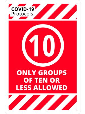 COVID-19 Only Groups of 10