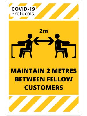 COVID-19 Maintain 2 Metres From Customers
