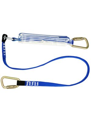 1.7m Single Leg lanyard with 2 x MC004 Carabiners - 170kg Rated